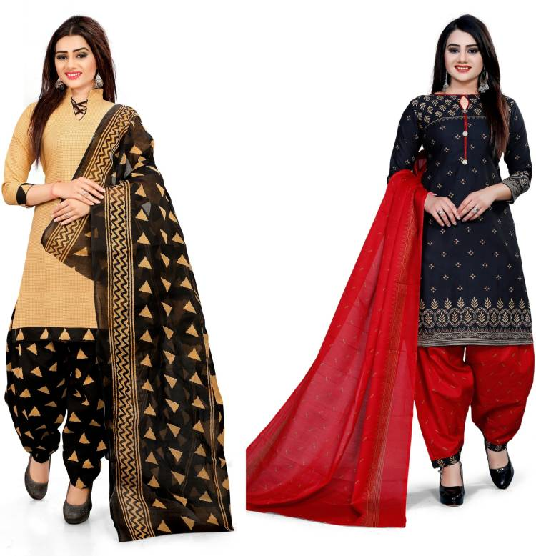 Cotton Blend Printed Salwar Suit Material Price in India