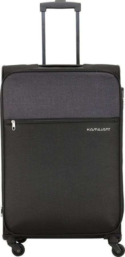 Medium Check-in Luggage (67 cm) - KAM CAMEROON SP67cm-BLACK - Black