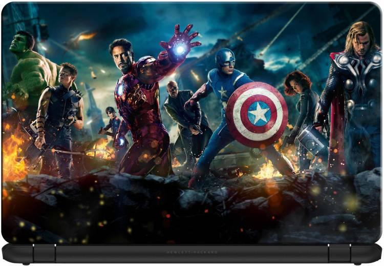 doodad Marvel Team Removable Vinyl Skin Laptop Decal 15.6