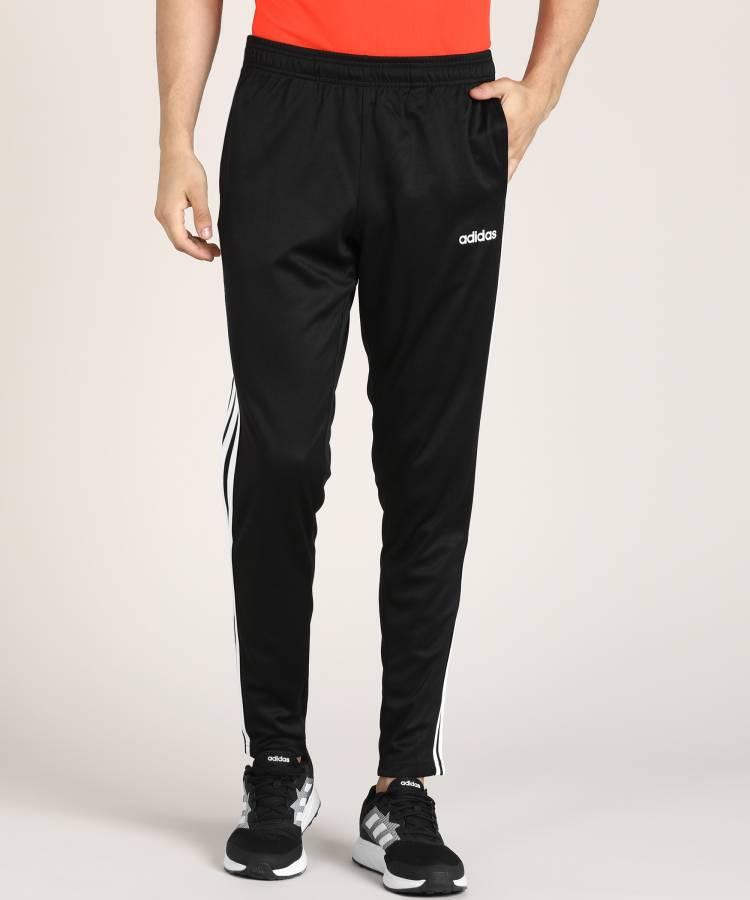 Striped Men Black Track Pants