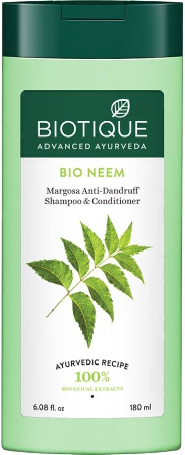 BIOTIQUE Bio Neem Margosa Anti - Dandruff Shampoo & Conditioner 180ml Price in India