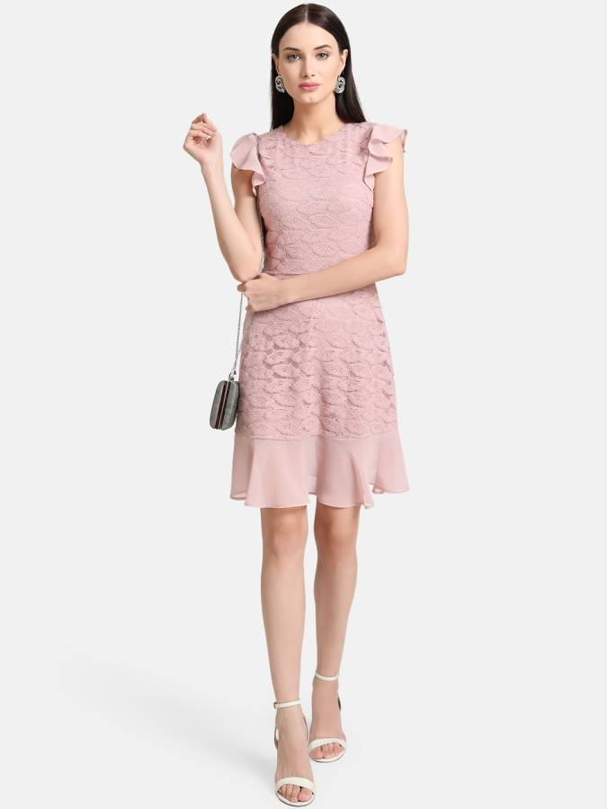 Women A-line Pink Dress Price in India