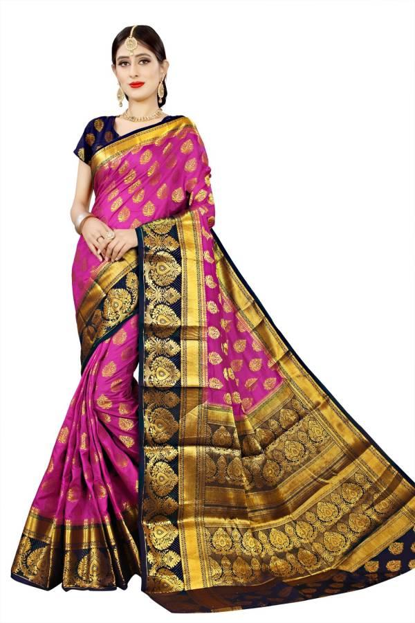 Self Design Banarasi Jacquard, Art Silk Saree Price in India