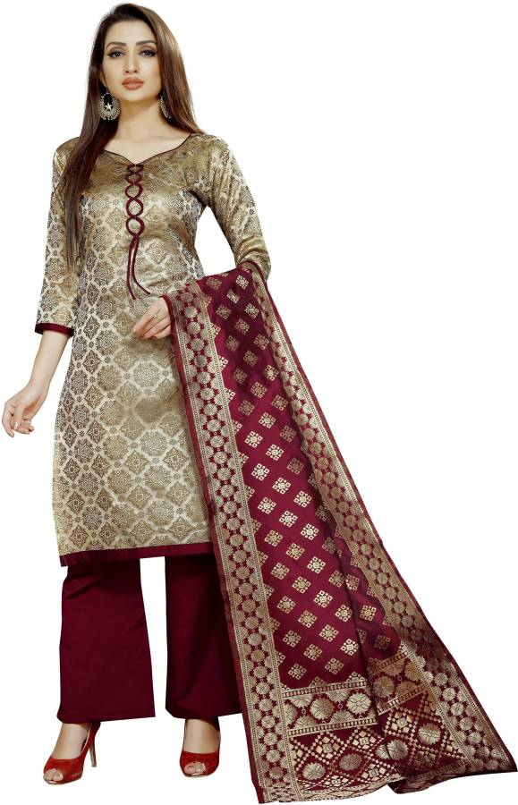 INDIAN BEAUTIFUL Brocade Self Design Salwar Suit Material