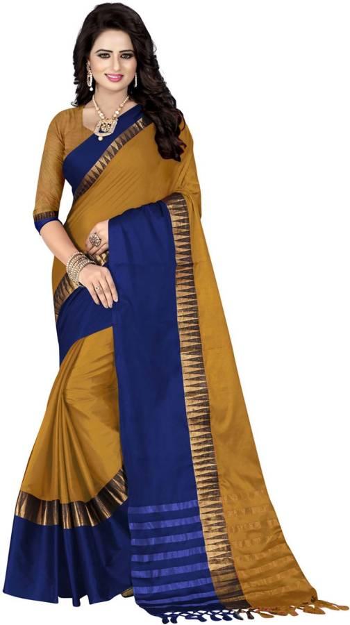 Woven Coimbatore Cotton Silk Saree Price in India