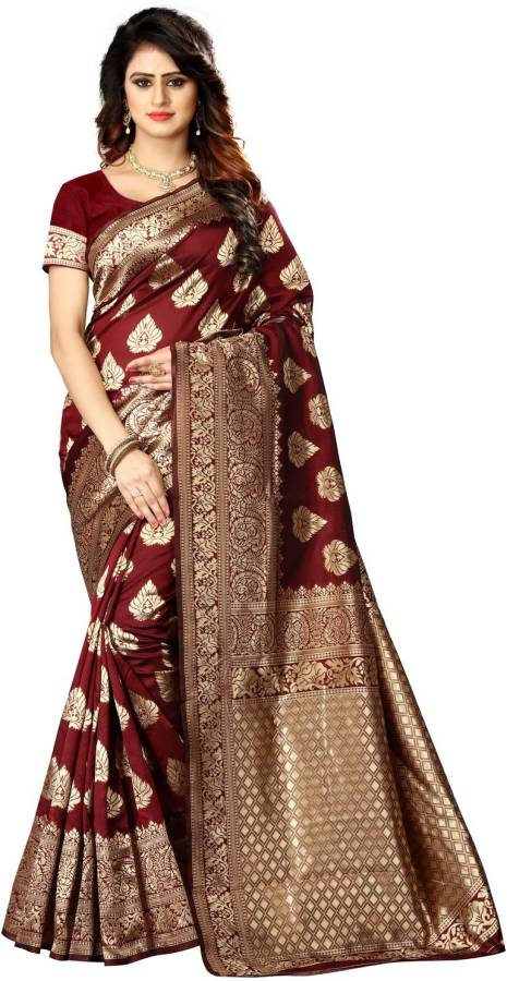 Self Design Kanjivaram Poly Silk Saree