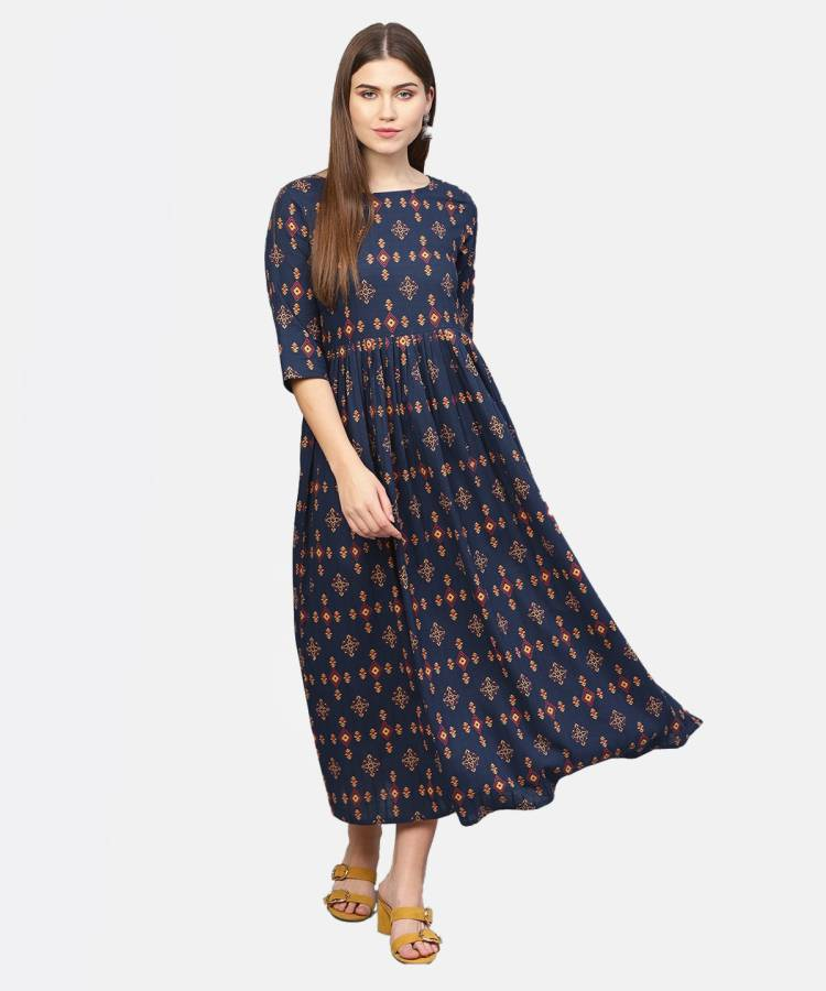 Women Ethnic Dress Dark Blue Dress