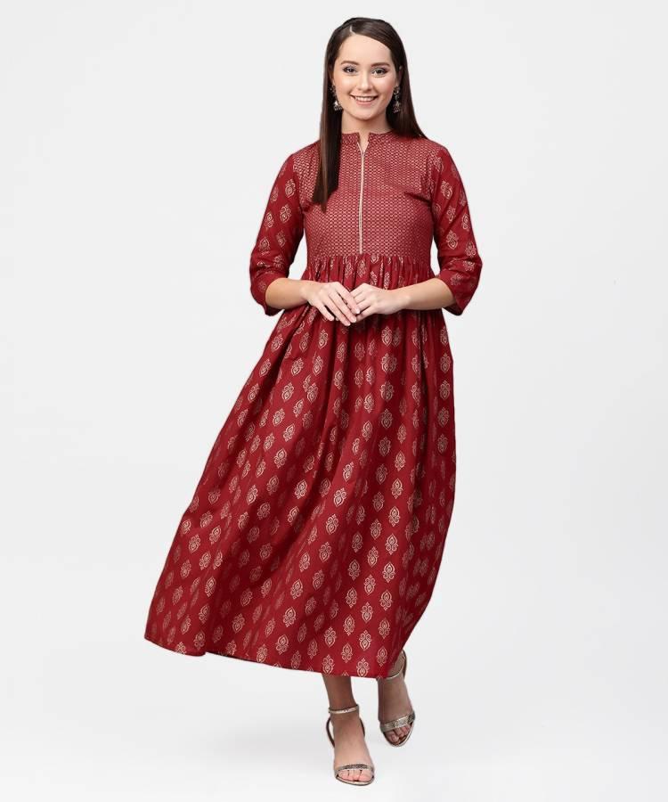 Women Ethnic Dress Red Dress