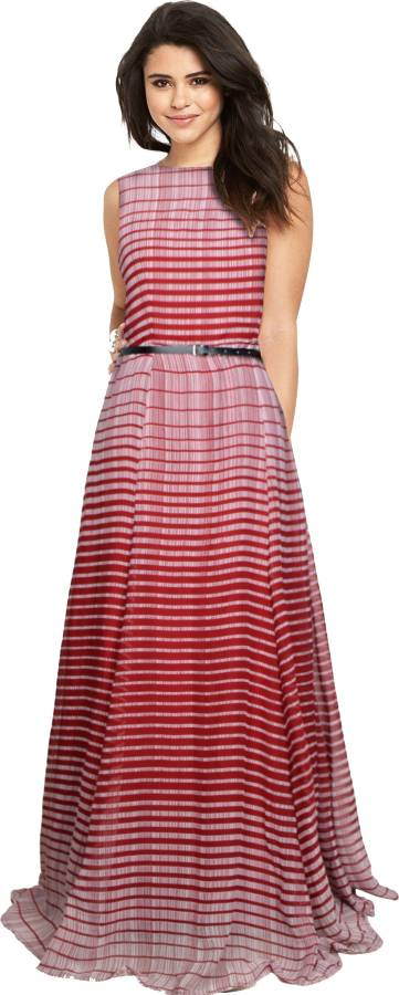 Women Maxi Maroon Dress Price in India