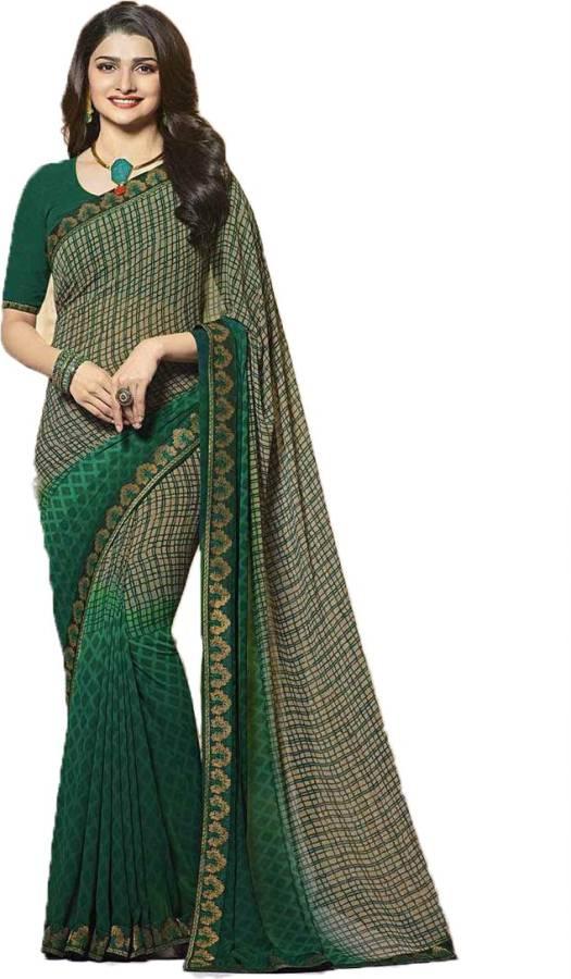 Printed, Self Design Daily Wear Chiffon Saree