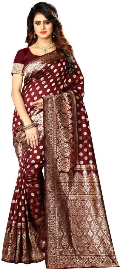 Woven Kanjivaram Poly Silk Saree
