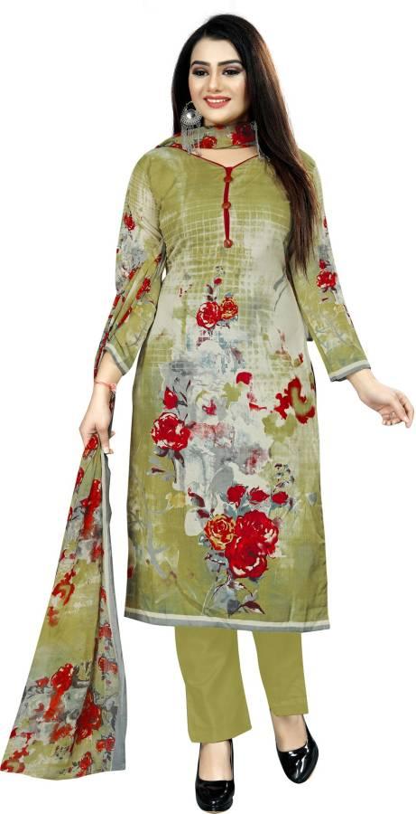 Cotton Printed Salwar Suit Material Price in India