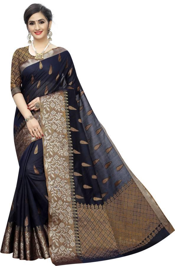 Woven Banarasi Cotton Silk Saree Price in India