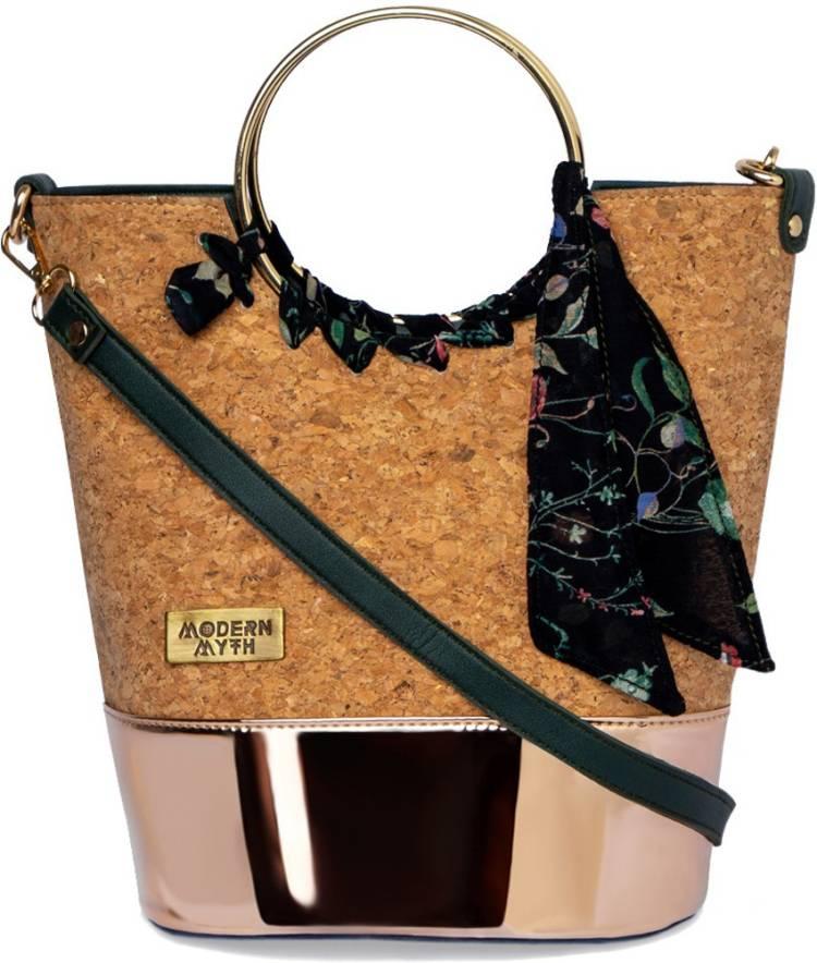 Brown, Gold Women Sling Bag Price in India