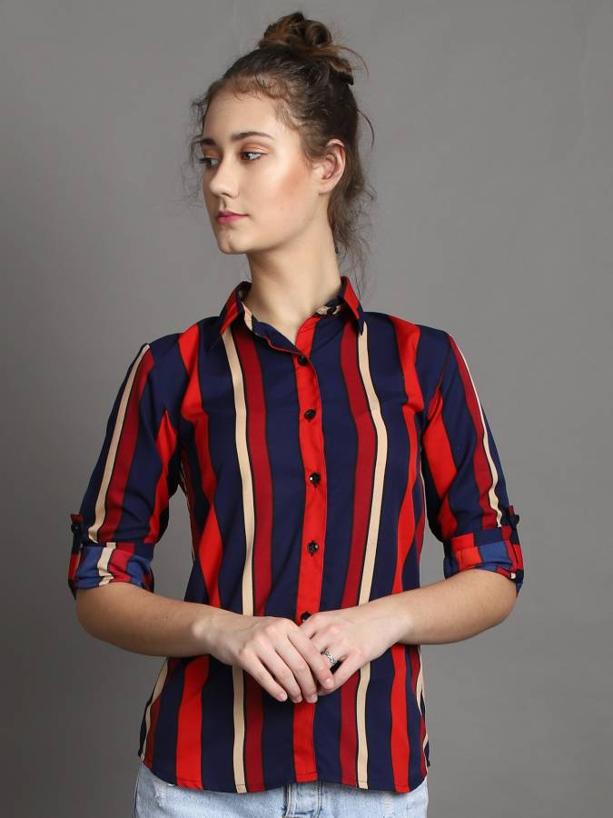 Women Regular Fit Printed Formal Shirt