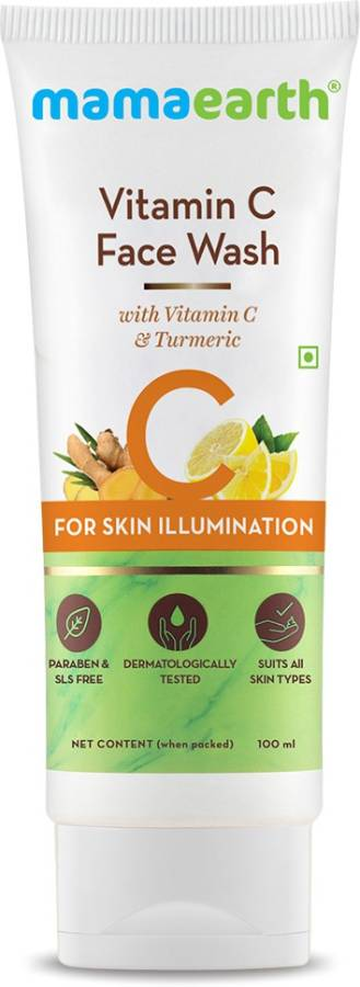 "MamaEarth ""Vitamin C  with Vitamin C and Turmeric for Skin Illumination - 100ml "" Face Wash Price in India"