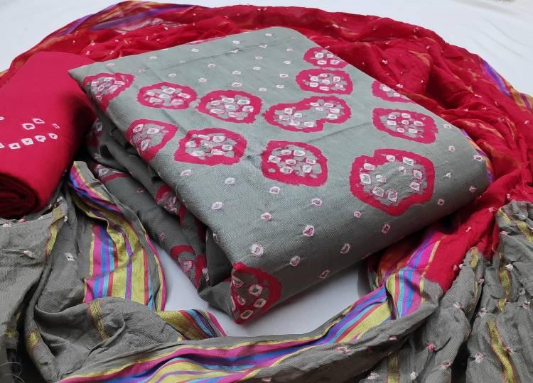 Cotton Self Design, Woven, Printed Salwar Suit Material