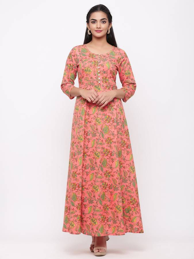 Women Maxi Pink Dress Price in India