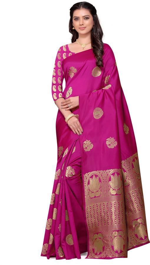 Self Design Banarasi Art Silk, Jacquard Saree