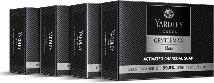 Yardley London Gentleman Classic Activated Charcoal Soap, 100g(Pack of 4)