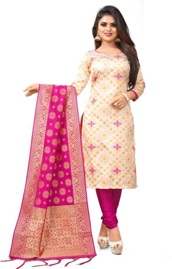 Poly Silk Woven Salwar Suit Material Price in India
