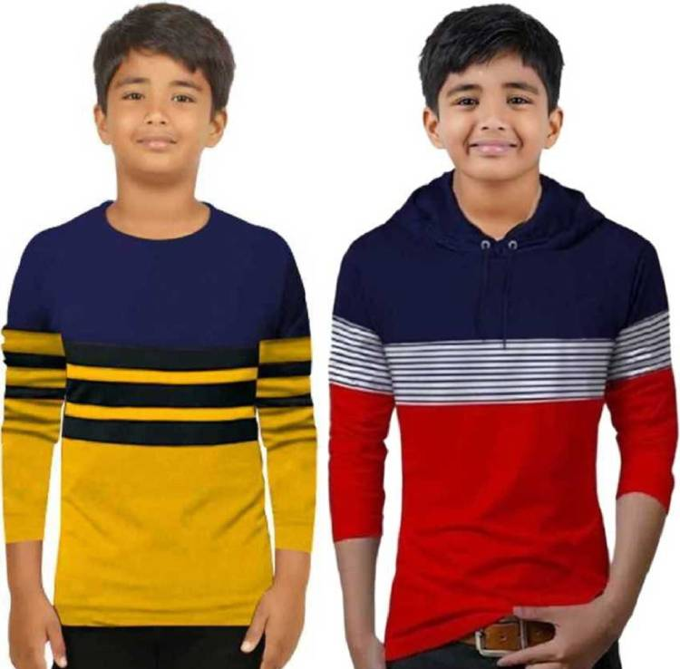 Boys Solid Pure Cotton T Shirt Price in India
