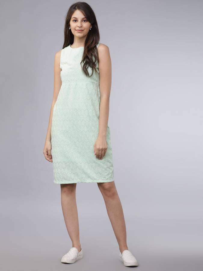 Women A-line Green Dress Price in India