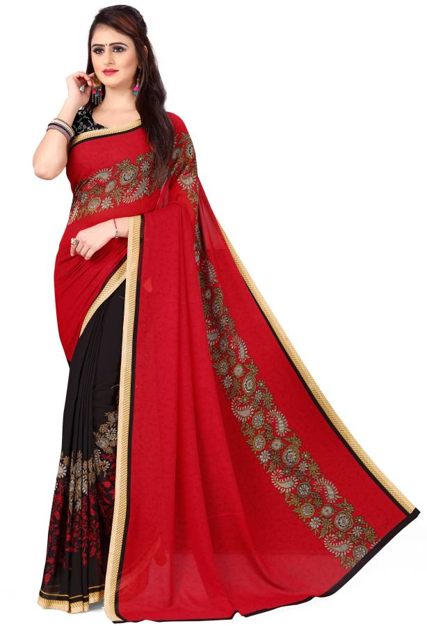 Paisley, Printed Daily Wear Georgette Saree Price in India