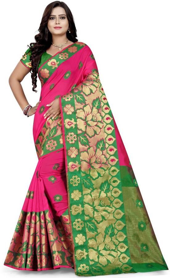 Woven Fashion Silk Blend, Cotton Blend Saree