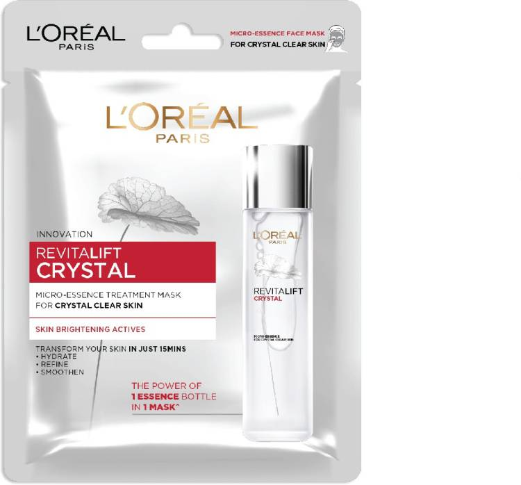 L'OREAL PARiS Revitalift Crystal Micro-Essence Sheet Mask, 25 g Price in India