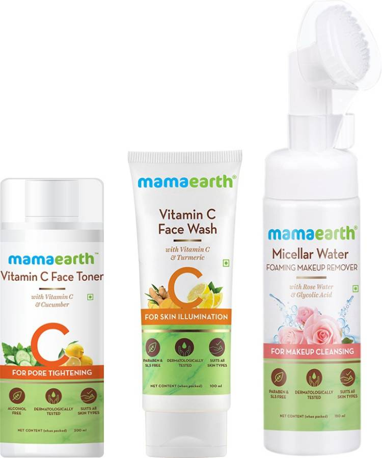 MamaEarth Natural Cleanse & Tone Kit Price in India