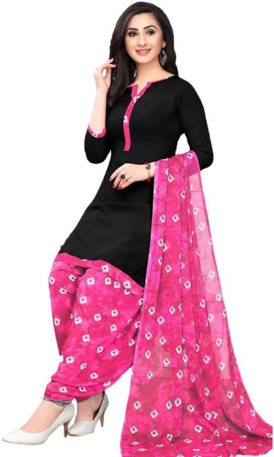 Crepe Dyed Salwar Suit Material