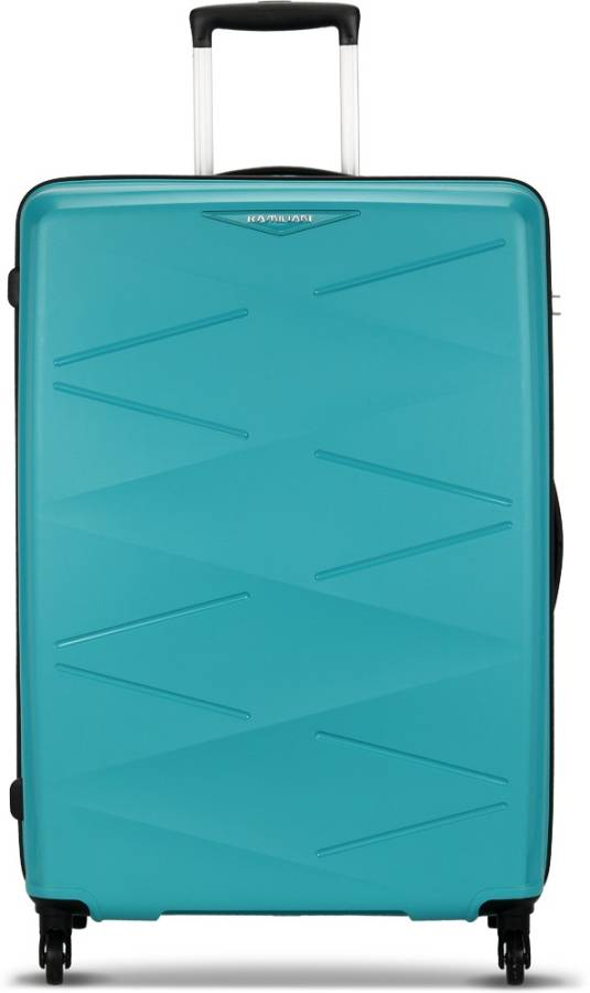 Large Check-in Luggage (78 cm) - Kam Triprism Aqua Spinner - Blue