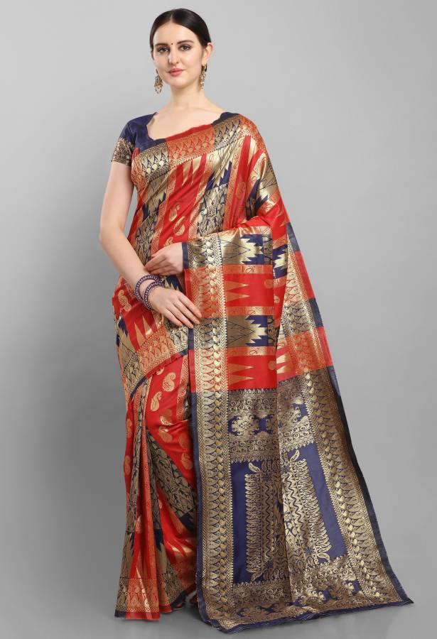 Woven Fashion Silk Blend Saree