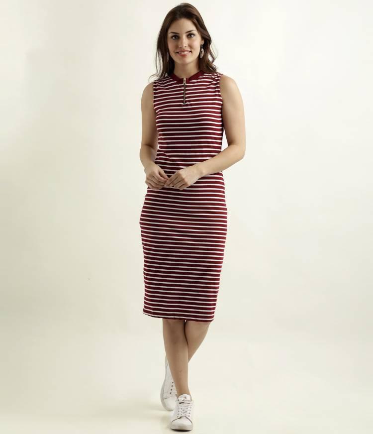 Women Bodycon Multicolor Dress Price in India