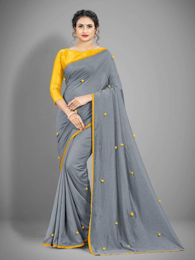 Embellished Bollywood Silk Blend Saree Price in India
