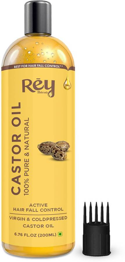 Rey Naturals Cold-Pressed 100% Pure Castor Oil Hair Oil Price in India