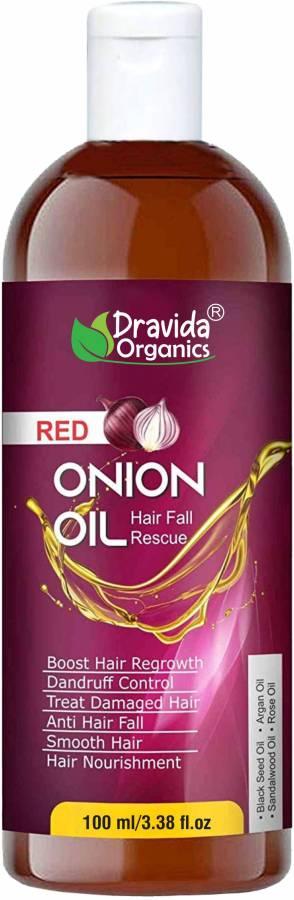 Dravida Organics Onion Hair Oil - Nourishing Hair Fall Treatment With Real Onion Extract Intensive Hair Fall Dandruff Treatment Hair Oil Price in India