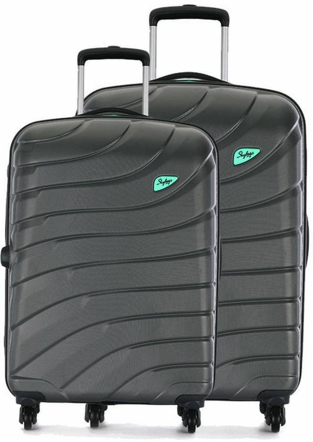 Hard Body Set of 2 Luggage - HI-VOL STROLLY SET - Grey