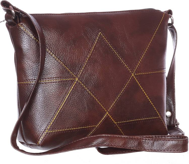 Brown Women Sling Bag - Extra Spacious Price in India