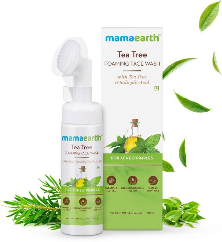 MamaEarth Tea Tree Foaming  with Tea Tree & Sali cylic Acid for Acne & Pimples Face Wash Price in India