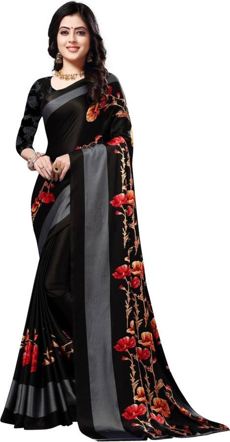 Printed Leheria Chiffon Saree Price in India