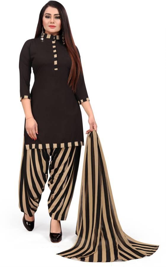 Crepe Floral Print, Geometric Print, Graphic Print, Printed Salwar Suit Material Price in India