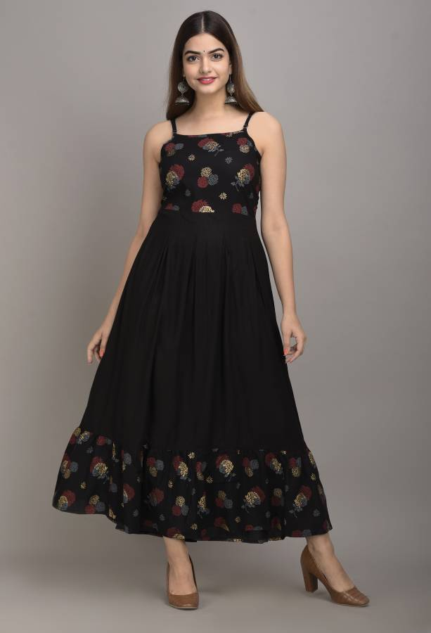 Women Empire Waist Multicolor Dress Price in India