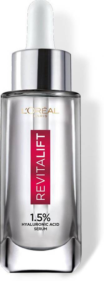 L'Oréal Paris Revitalift Hyaluronic Acid Face Serum 1.5% - Hydrating Serum For Radiant, Glowing Skin (Fragrance & Paraben Free) Price in India