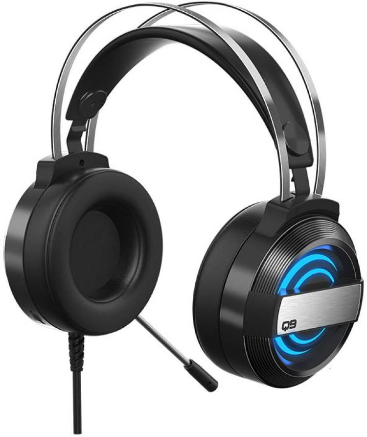 Bestor Q9 HD LED for PC, PS4, Xbox Wired Gaming Headphone(Black) Wired Gaming Headset