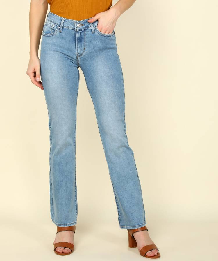 Boot-Leg Women Blue Jeans