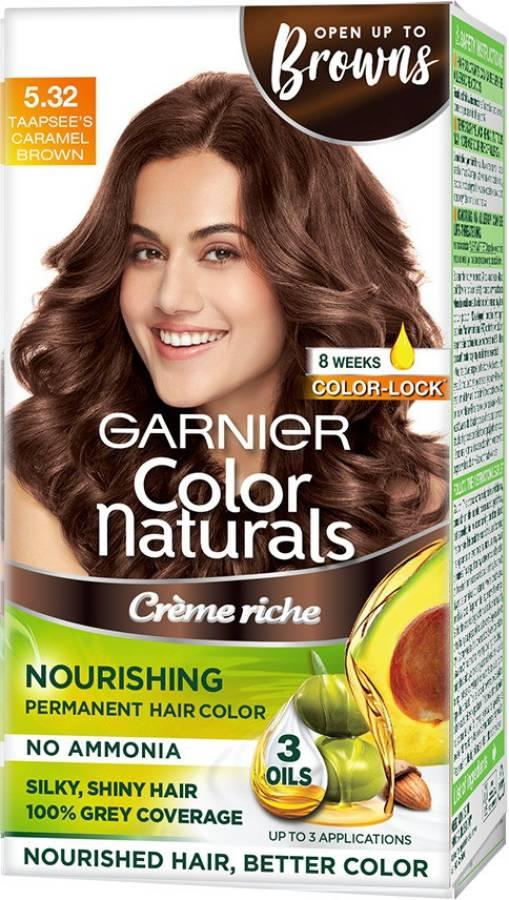 GARNIER Color Naturals Creme , Shade 5.32, Caramel Brown Price in India