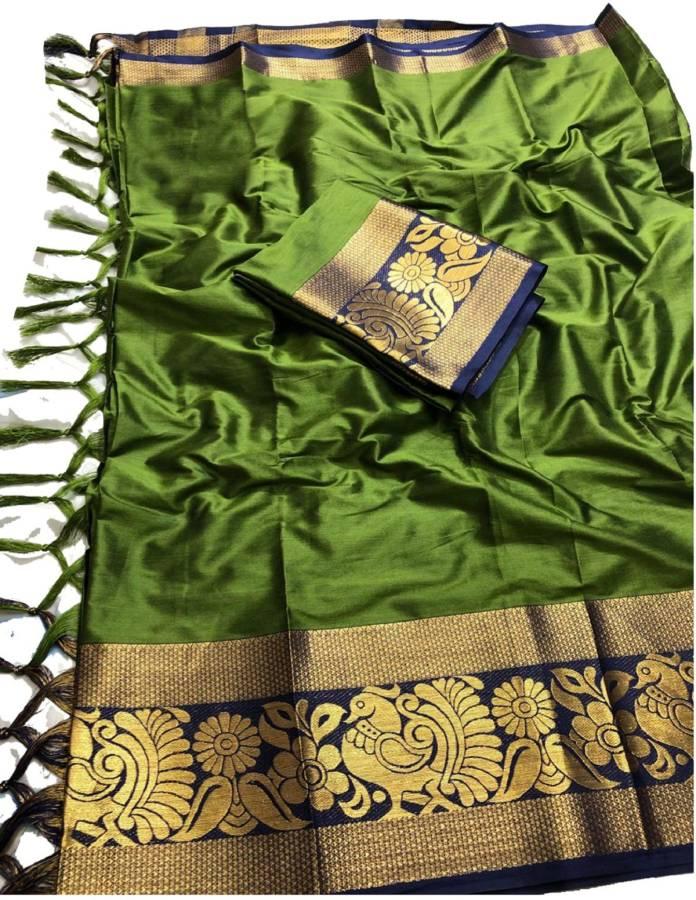 Cotton Silk Blend Woven Kurta & Churidar Material Price in India