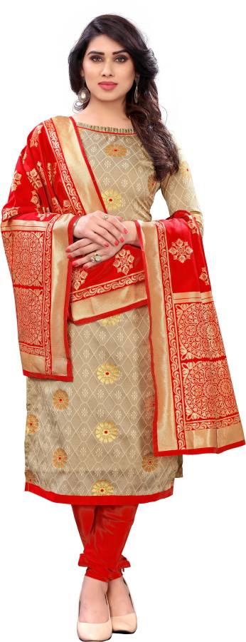 Jacquard Self Design Salwar Suit Material Price in India